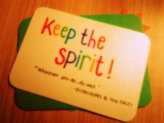 Keep the spirit sister