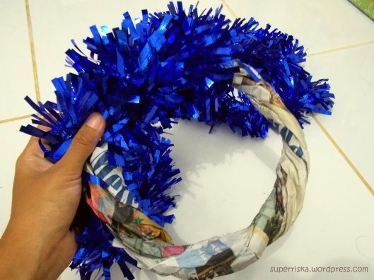 how to make the wreath 1